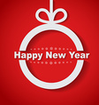 Christmas ball with text inside Happy New Year vector image vector image