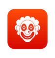 clown icon digital red vector image vector image