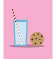 cookies and milk vector image vector image