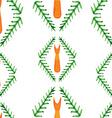 cute autumn watercolor seamless pattern fox vector image vector image