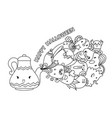 cute monsters coming out lamp with typography vector image vector image