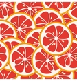 Cute seamless pattern with red grapefruit slices vector image vector image