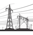 different electrical transmission lines vector image