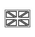 flag united kingdom black color icon vector image