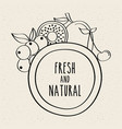 fresh and natural fruits food healthy organic vector image