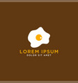 fried egg logo design template vector image vector image
