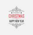 greeting merry christmas decorative card vector image vector image