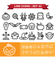 Halloween Line icons set 41 vector image vector image
