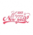 Happy new year 2017 hand-lettering text Handmade vector image vector image