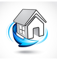 house icon with arrow vector image vector image