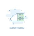 hybrid storage line concept simple line icon vector image vector image