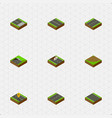isometric way set of without strip subway vector image vector image