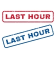 Last Hour Rubber Stamps vector image vector image