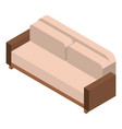 leather sofa icon isometric style vector image vector image