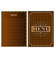 menu for restaurant cafe vector image