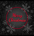 merry christmas banner with silver glitter vector image vector image