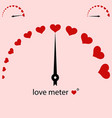 meter power love heart valentine vector image vector image