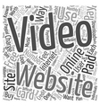 Paid Video Sites Are They Worth The Buy text vector image vector image