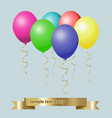 party celebration balloons collection of six vector image