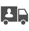 Passenger Transport Van Icon Rubber Stamp vector image vector image