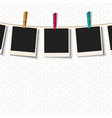 Photo Frames with clothespins vector image vector image
