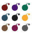 pirate grenade icon in black style isolated on vector image vector image