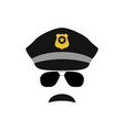 police officer avatar trendy policeman icon vector image vector image