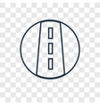 road concept linear icon isolated on transparent vector image