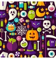 Scary Halloween Seamless Background vector image vector image