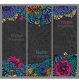 set cards with patterns vector image vector image