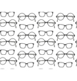 set fashionable glasses silhouettes vector image