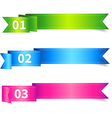 Set of Ribbon Sticker or Label with Number vector image