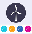 single round windmill energy sign icon vector image