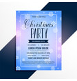 snowflakes christmas event party flyer template vector image vector image