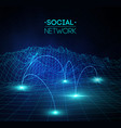 social network media global people communication vector image