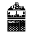 street candy kiosk icon simple style vector image vector image