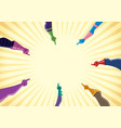 superhero hands with pointing fingers vector image vector image
