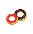 Sweet Donuts logo Design Flat Food vector image vector image