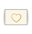 Valentine template with gold glitter heart and vector image