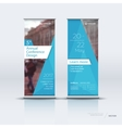 Vertical banner template design vector image