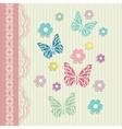 Vintage floral card background vector image vector image