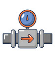 water meter pipe icon cartoon style vector image vector image