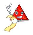 with menu triangel mascot cartoon style vector image