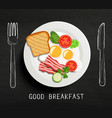 good breakfast lettering vector image
