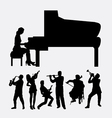 Musical instrument male and female player vector image