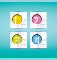 clean modern white infographic banners vector image