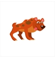 Hyena With Tongue Out vector image