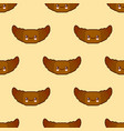 seamless pattern with croissant cute fast food vector image
