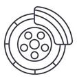 disc brakecar service line icon sign vector image