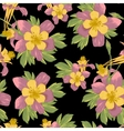 Elegance Seamless flowers background vector image